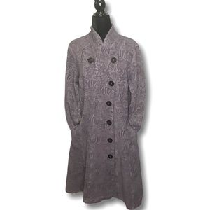 CMC Color Me Cotton Tapestry Coat Made in USA Sz S